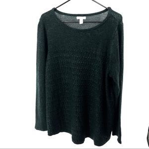 🌿 Dark Green Croft & Barrow Sweater Size 1X